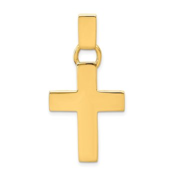 14k Hollow Cross Pendant