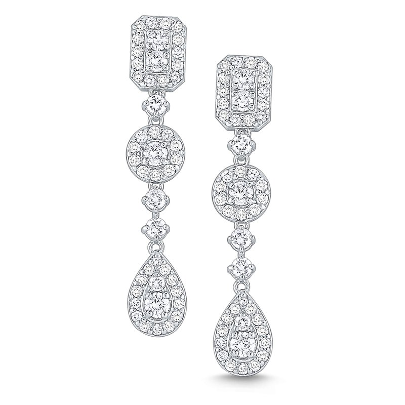 MAZZARESE Fashion Diamond Drop Earrings Set in 14 Kt. Gold
