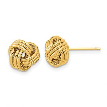 14k Polished Triple Love Knot Post Earrings