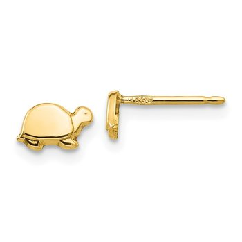 14k Mini Turtle Earrings