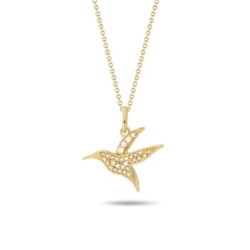 Hummingbird Diamond Pendant