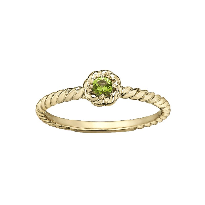 Lasting Treasures™ Peridot Ladies Solitaire