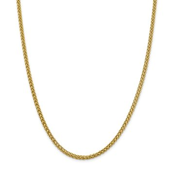 14k 4.3mm Semi-solid 3-Wire Wheat Chain