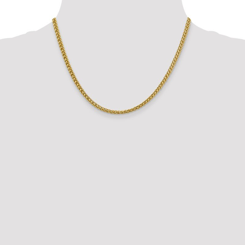 Quality Gold 14k 4.3mm Semi-solid 3-Wire Wheat Chain