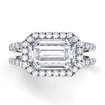 Per Lei Double Shank Engagement Ring