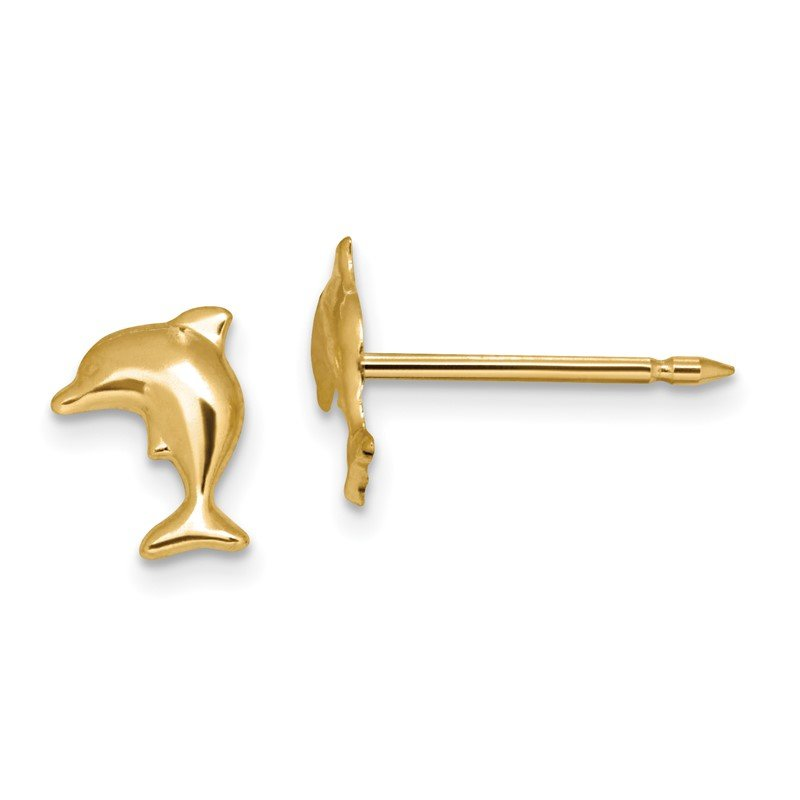 Quality Gold Inverness 14k 7mm Dolphin Earrings