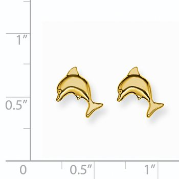 Inverness 14k 7mm Dolphin Earrings