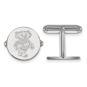 Sterling Silver University of Wisconsin NCAA Cuff Links