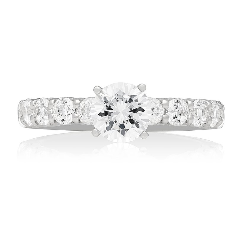 Veer Diamonds CLASSIC SHARED-PRONG SOLITAIRE RING
