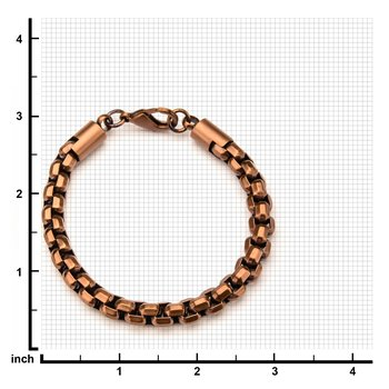 Rose Gold Plated Round Box Chain Bracelet