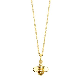 "Honeybee ""B"" Bee Tag Pendant P477Y"