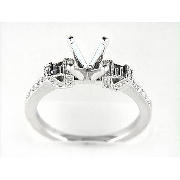 14K W RING 44RD 0.22CT 2TAP 0.18CT