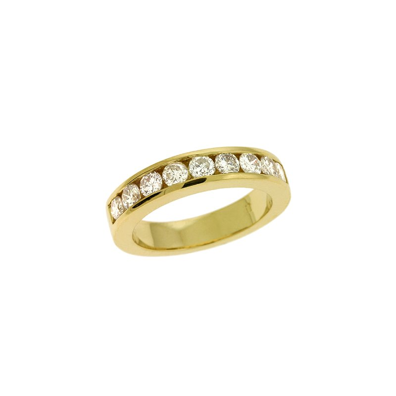 S. Kashi & Sons Bridal Channel Set Gold Band