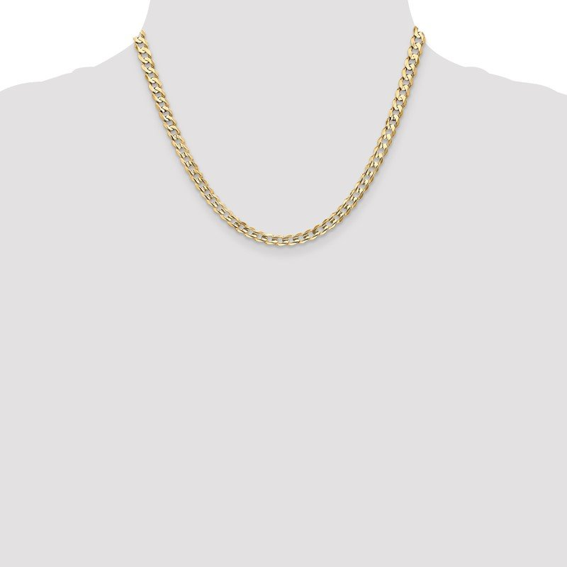 Quality Gold 14k 5.25mm Open Concave Curb Chain