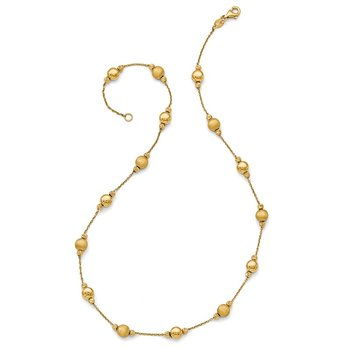 Leslie's 14K D/C Scratch Finish Polished Necklace