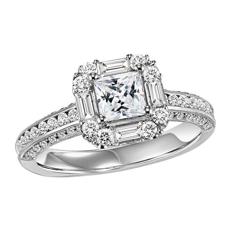 Bridal Bells 14K Diamond Engagement Ring 7/8 ctw with 3/4 ct Center