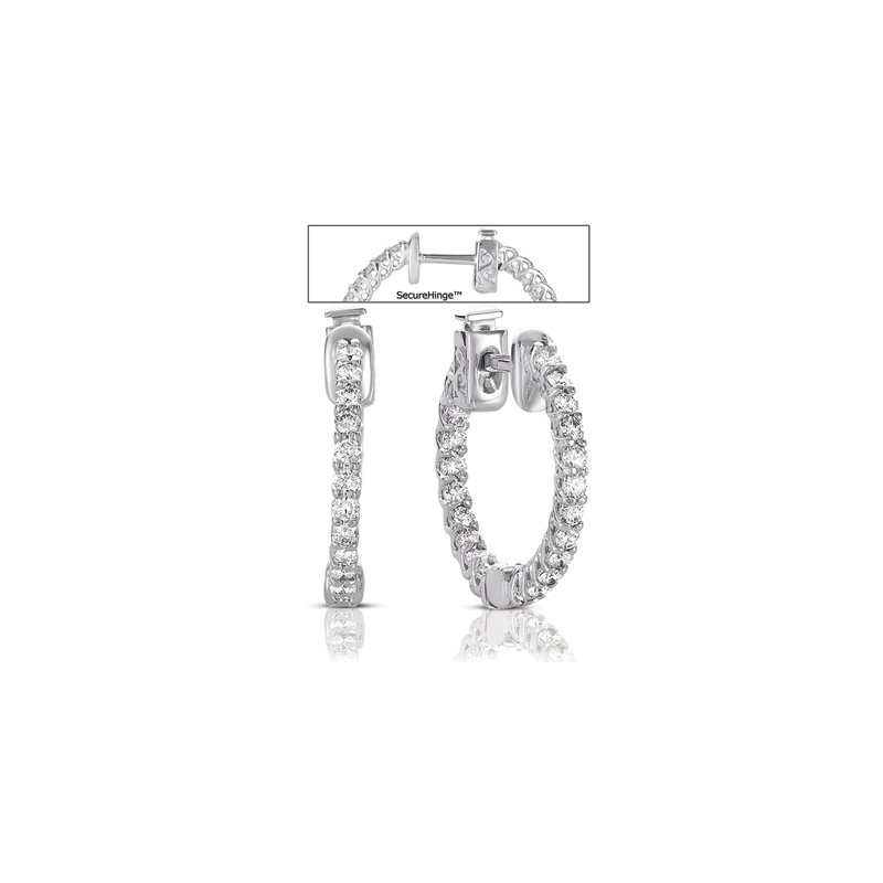 S. Kashi  & Sons 0.75  Securehinge Hoop Earring