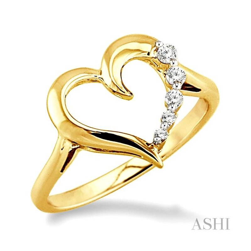 ASHI journey heart shape diamond ring