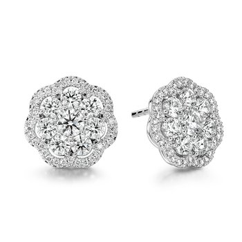 2.42 ctw. Aurora Cluster Earrings