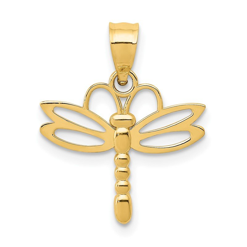 Quality Gold 14k Dragonfly Pendant