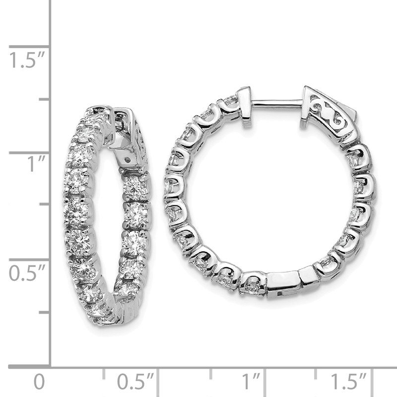 True Origin 14kw True Origin Lab Grown VS/SI, D E F, Diamond Hoop with Safety Clasp