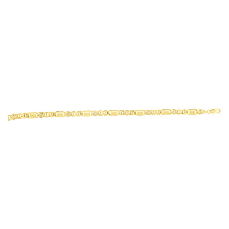 Royal Chain 14K Gold 5.85mm Figarucci Bar Link Chain