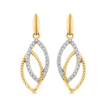 Round Cut Diamond Fashion Earrings