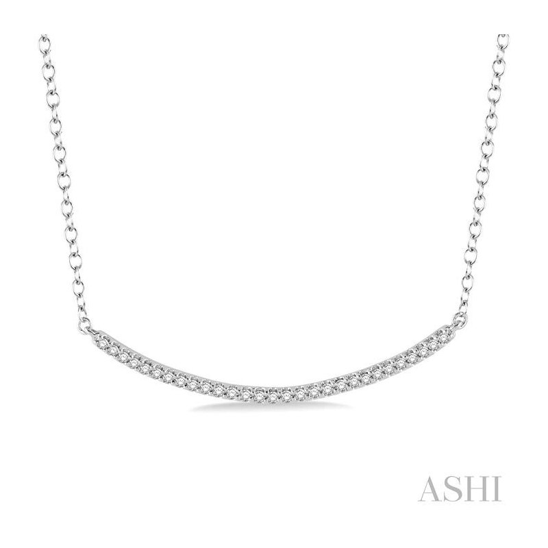 ASHI 'u' shape diamond pendant