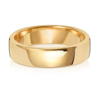 9Ct Yellow Gold 5mm Soft Court Wedding Ring