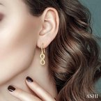 ASHI infinity diamond earrings