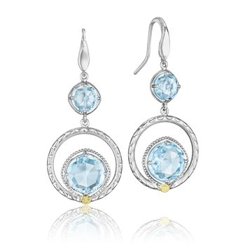 Gem Ripple Earrings featuring Sky Blue Topaz