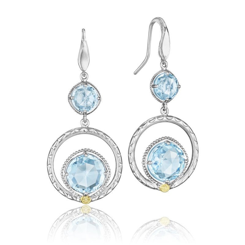 Tacori Fashion Gem Ripple Earrings featuring Sky Blue Topaz