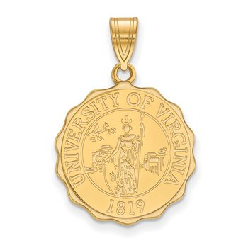 Gold-Plated Sterling Silver University of Virginia NCAA Pendant