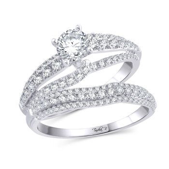14K 0.92Ct Diam Semi Mount Ring