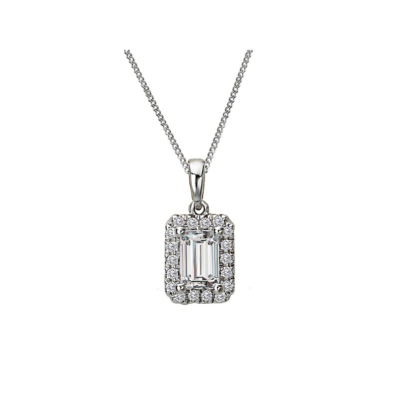 Tesoro Ladies Fashion Semi-mount Diamond Pendant