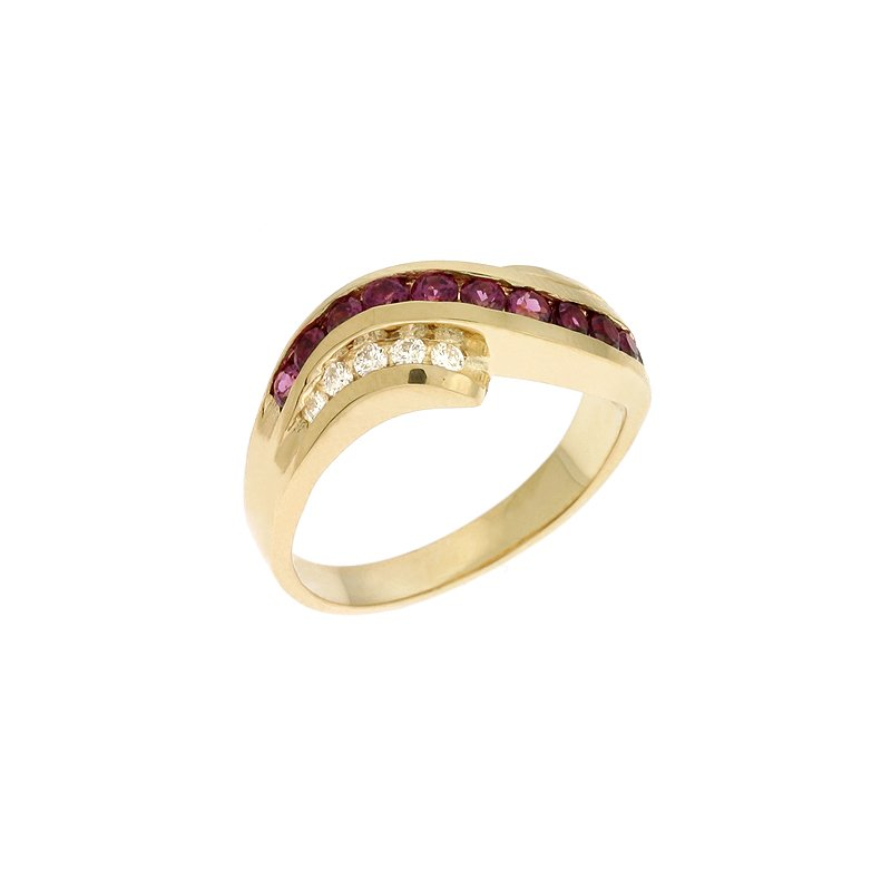 S. Kashi  & Sons Rhodolite & Diamond Ring