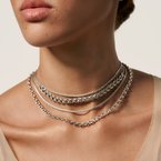 John Hardy Asli Classic Chain Link Multi Row Necklace in Silver