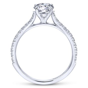 Plat. Diamond Engagement Ring