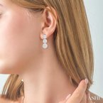 Barclay's Signature Collection past present & future lovebright diamond earrings