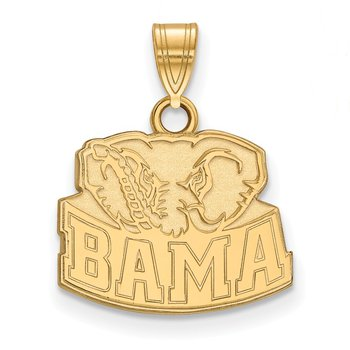 Gold-Plated Sterling Silver University of Alabama NCAA Pendant