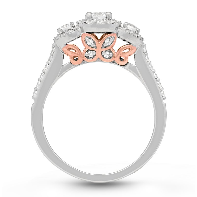 Veer Diamonds THREE BUTTERFLIES RING