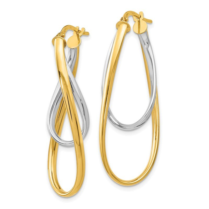 Leslie's Leslie's 14K Two-Tone Polished Hoop Earrings
