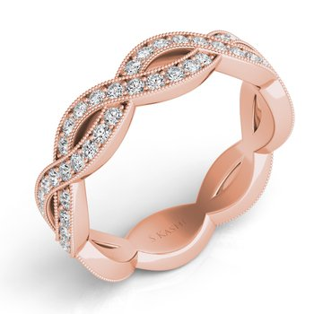 Rose Gold Pave Wedding Band