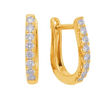 Yellow Gold Huggie Earring
