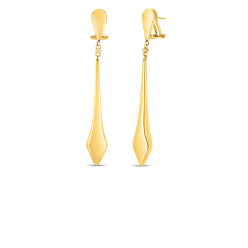 18KT GOLD STICK EARRINGS