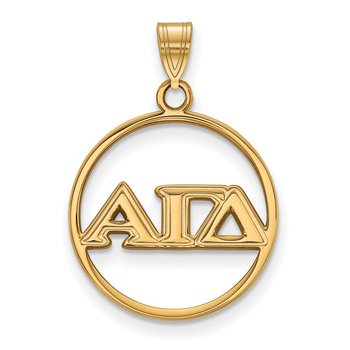 Gold-Plated Sterling Silver Alpha Gamma Delta Greek Life Pendant