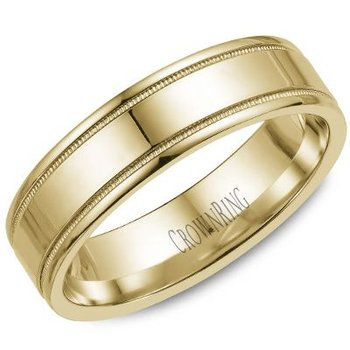 CrownRing Men's Wedding Band WB-6901Y