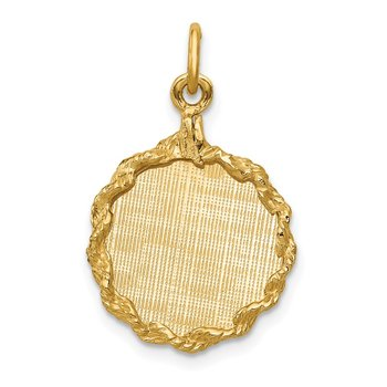 14k Patterned .013 Gauge Engravable Rope Disc w/Satin Back