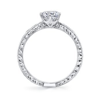 MARS 27350 Diamond Engagement Ring, 0.06 Ctw.