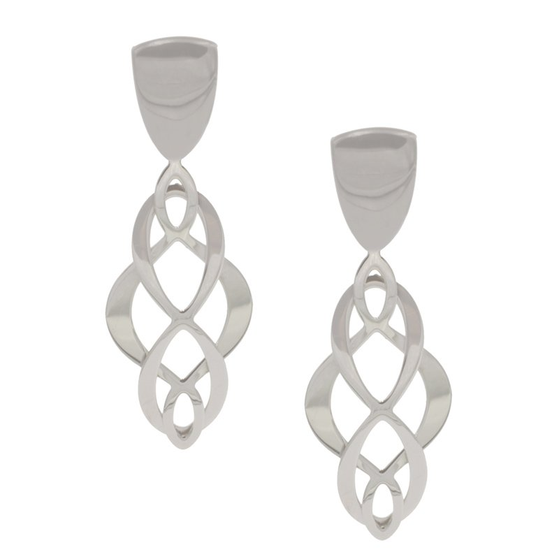 Frederic Duclos Celtic Swirl Earrings